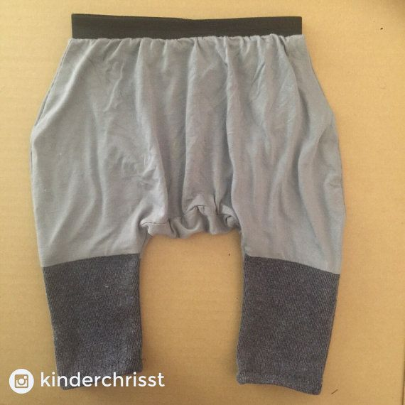 Grey Drop Crotch Baby Shorts Bamboo Toddler Kids Drop by chrisst
