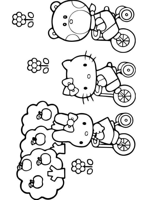 Hello Kitty With Gift Box Coloring Page Coloring Book Art Coloring Pages Hello Kitty