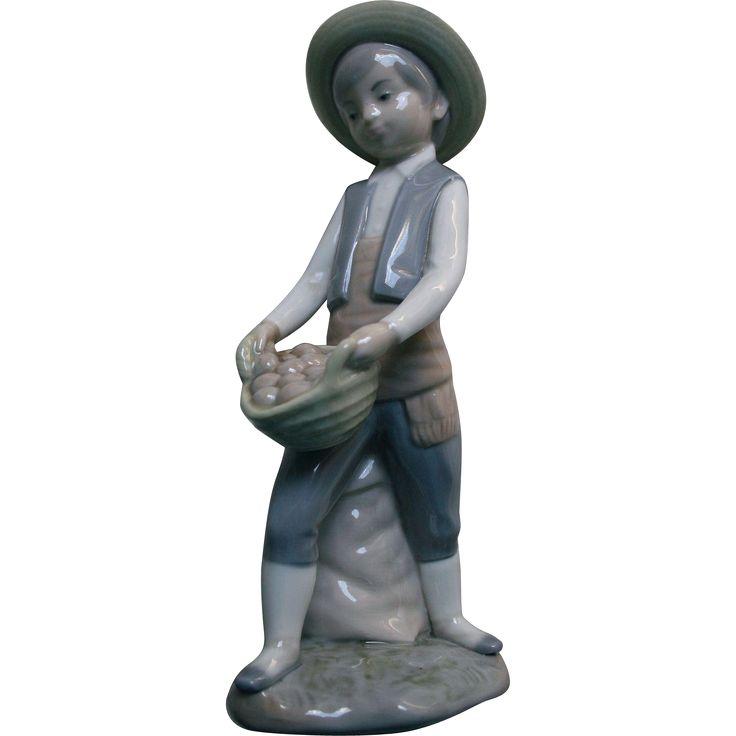 Boy Potato Farmer Figurine Made in Spain Zaphir from stardust-gallery on Ruby Lane