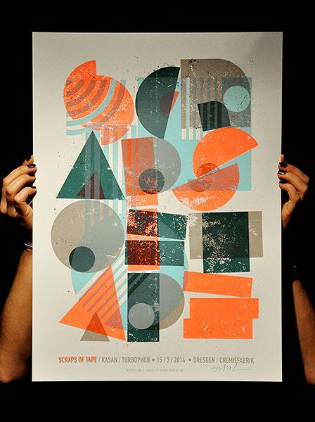 Letterpress poster/  by Lars P. Krause