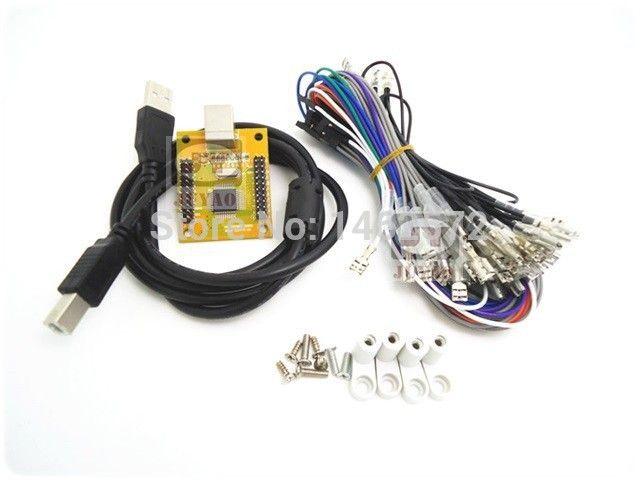 2 игроков ПК PS/3 2 В 1 Аркада для контроллера USB 2 игрока MAME Multicade Клавиатура Encoder, USB к Jamma, игровой контроллер