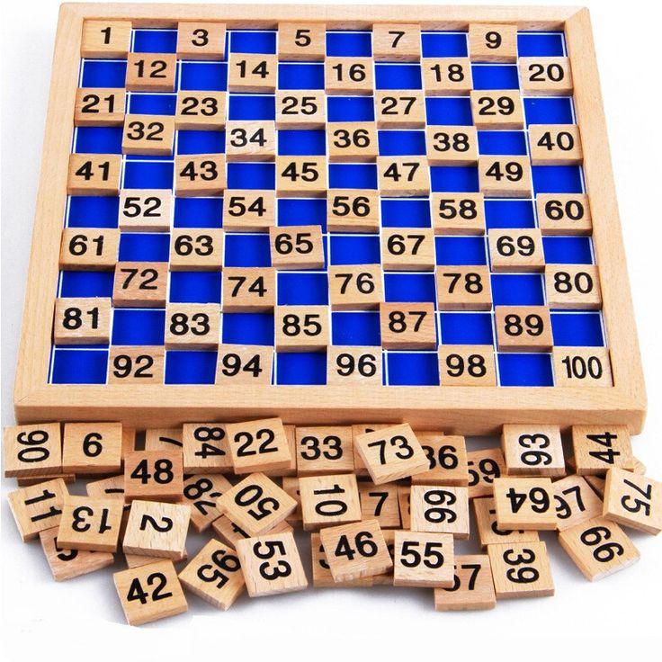 wooden board Montessori math toys Montessori materials oyuncak Children's educational toys digital board abacus W078