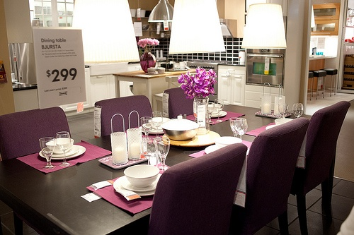 19 best images about dining chairs and chairs on pinterest abstract art gold chargers and chairs - Purple dining chairs ikea ...