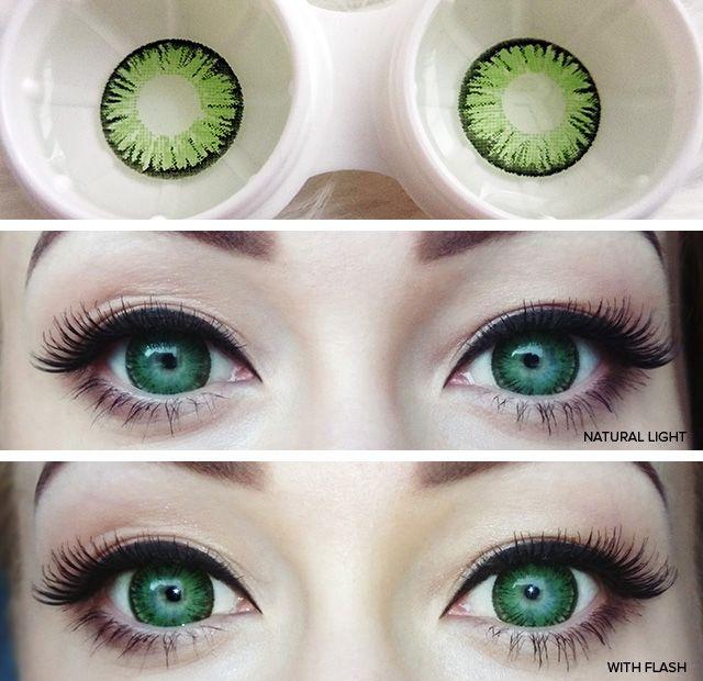 Circle Lens Review: Super Pinky Green