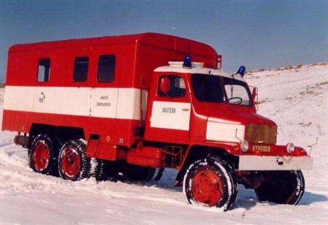 Russian fire deprt truck