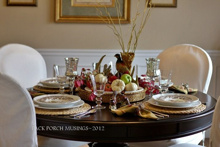 fall dining:  Love the tablesetting