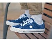 CONVERSE ONE STAR HAIRY SCAMOSCIATO PACK BLU REALE VENDERE A PREZZI SCONTATI. http://www.sconto-scarpe.com