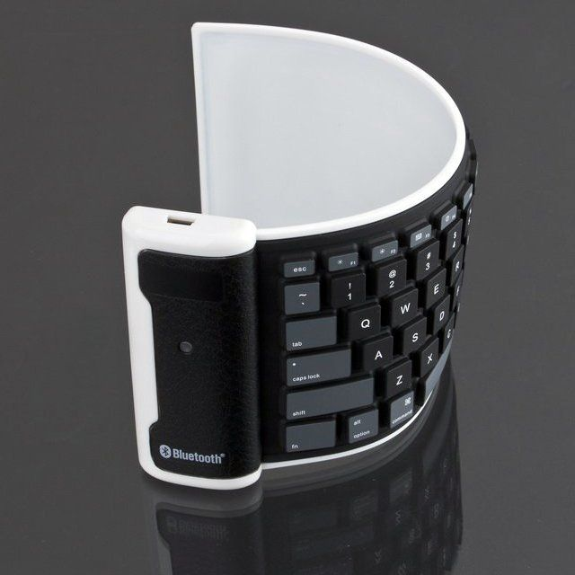 Roll Up Washable Bluetooth Keyboard http://newtechnologies-tn.com
