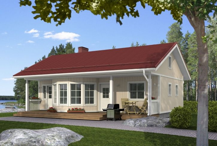 Perinteistä tyylikkyyttä – Kesäniemi: 67 m², 2 makuuhuonetta