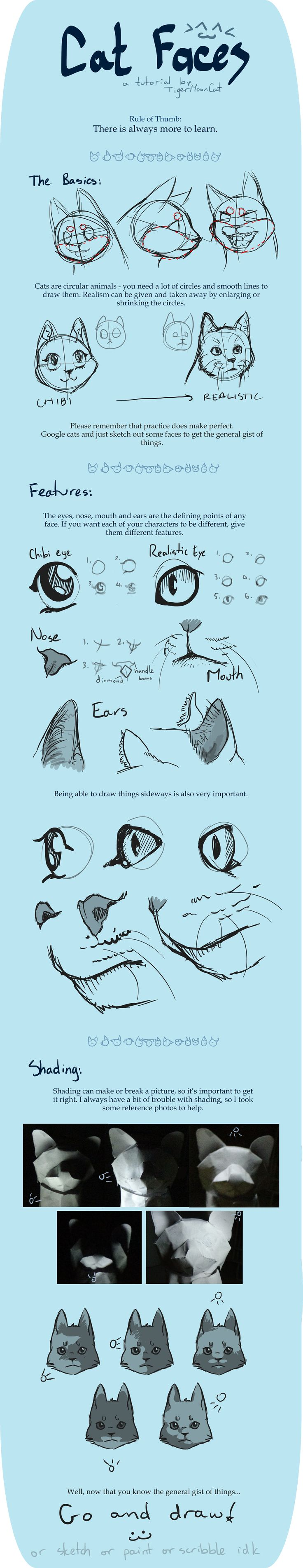 Cat Faces [Tutorial] by TigerMoonCat.deviantart.com on @deviantART
