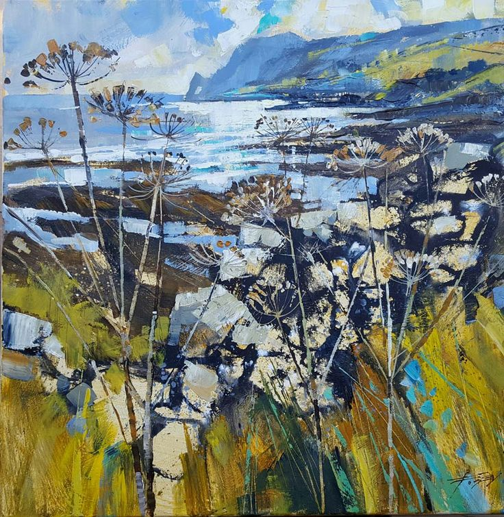 Chris Forsey - Winter stalks, Prawle 20x20