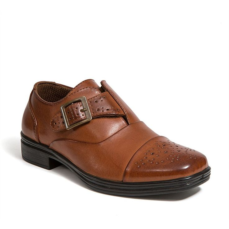 Deer Stags Semi Boys' Dress Shoes, Size: 12.5, Brown
