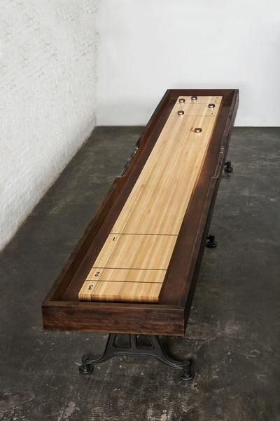 This Shuffleboard Table is the latest addition to our industrial collection. The timber frame is constructed from our signature reclaimed hardwood, a material t