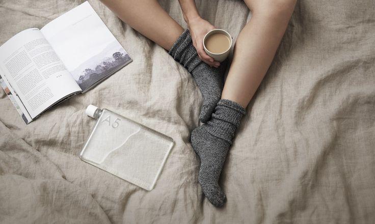 Memobottle A5 och kaffe i sängen www.naboinsweden.se