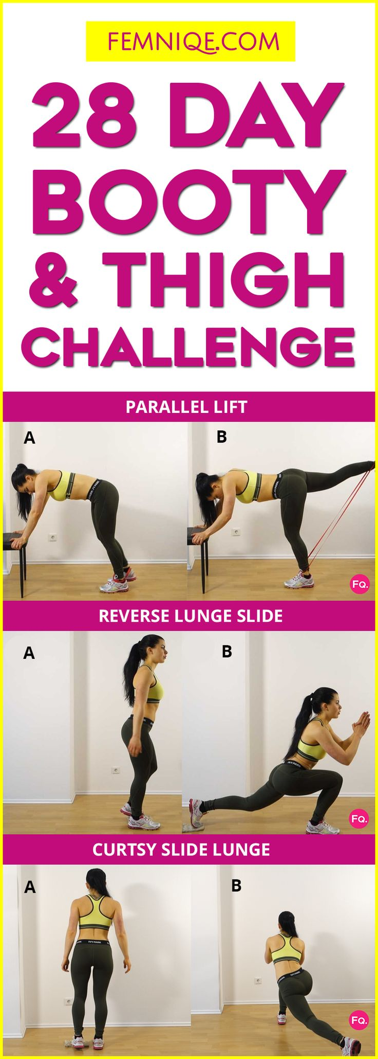 28 Day Butt & Thigh Workout Challenge (Booty Sculptor) - Butt and thigh workout at home or gym. This butt and thigh workout plan will sculpt your whole lower body. Whether you want to lose thigh fat and build a bigger butt this routine is for you.