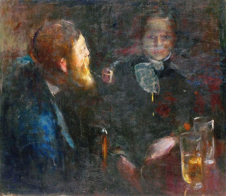 Tête-à-Tête.1885 by Edvard Munch