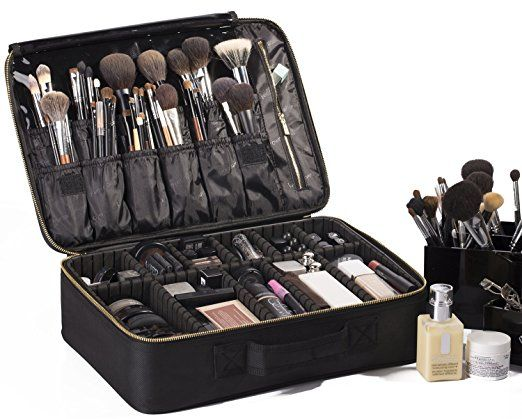 "Amazon.com: ROWNYEON Portable EVA Makeup Case-Professional 14.6""/ Makeup Brush Sets / Make Up Artist Organizer Bag: Clothing"