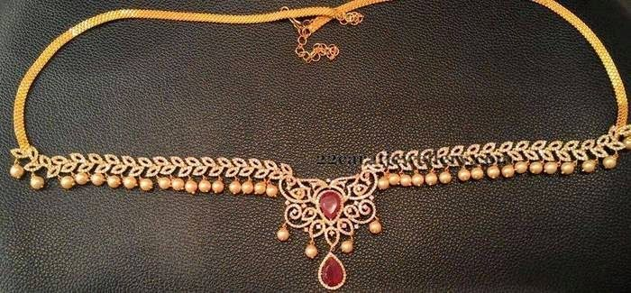 Jewellery Designs: Chain Model 1 Gram Gold Vaddanam