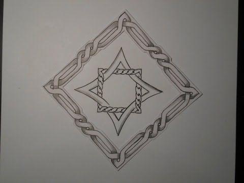Keltischer Knoten 20 (2. Motiv mit Rahmen)