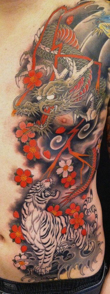 Chris Garver #Dragon #Japanese #Tiger_rib_panel                                                                                                                                                                                 More