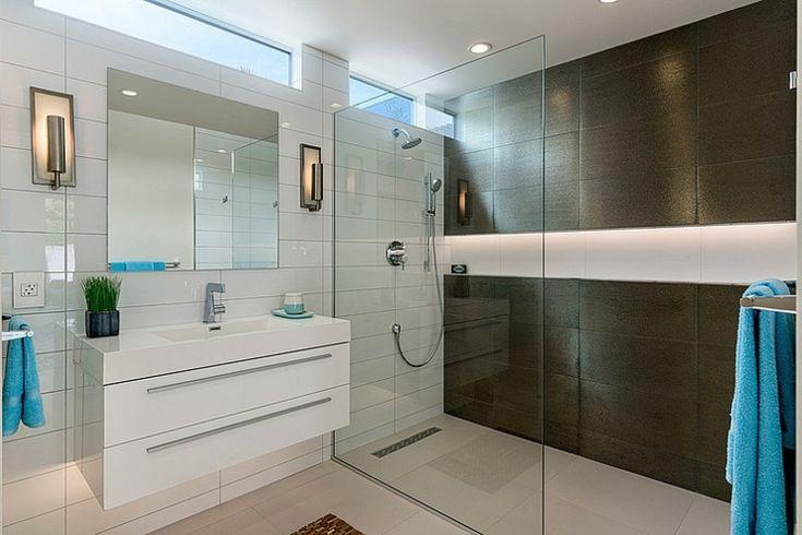 Belle demeure contemporaine californienne palm springs salle de bain parent pinterest - Douche italienne contemporaine ...