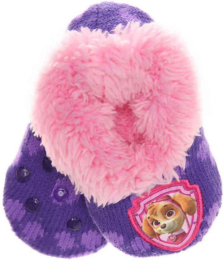 Nickelodeon Girls Paw Patrol Girls Slipper Socks -Purple