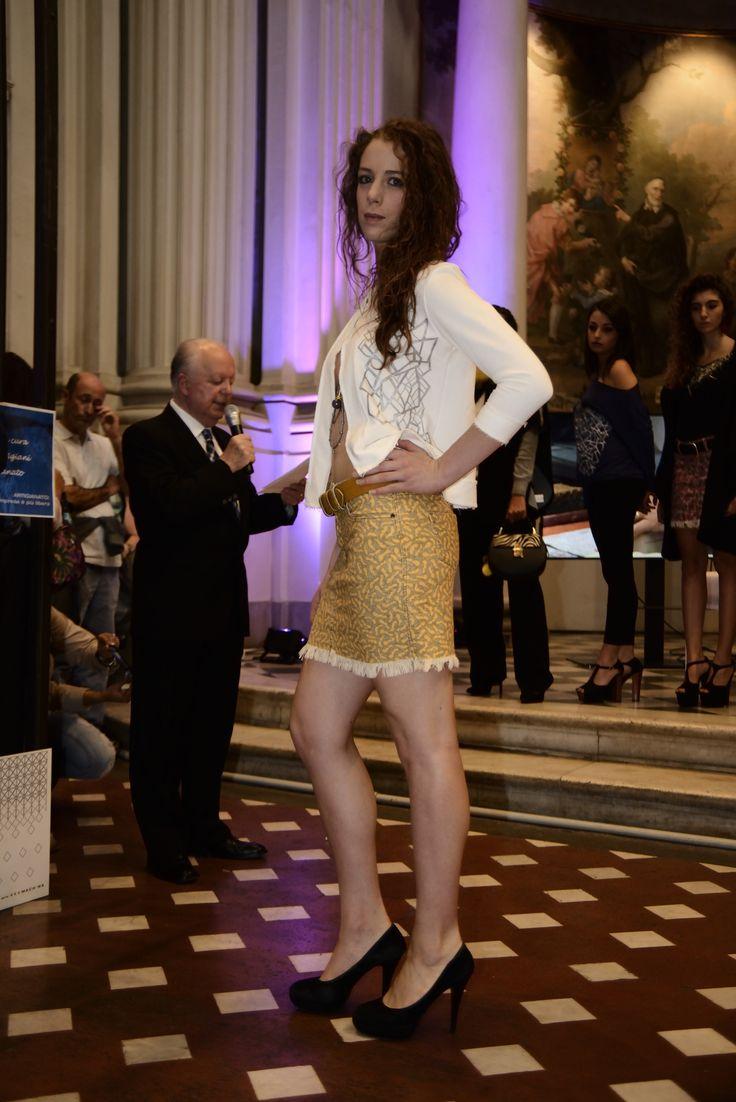 Minigonna d'Autore Ali. Wings Designer Miniskirt