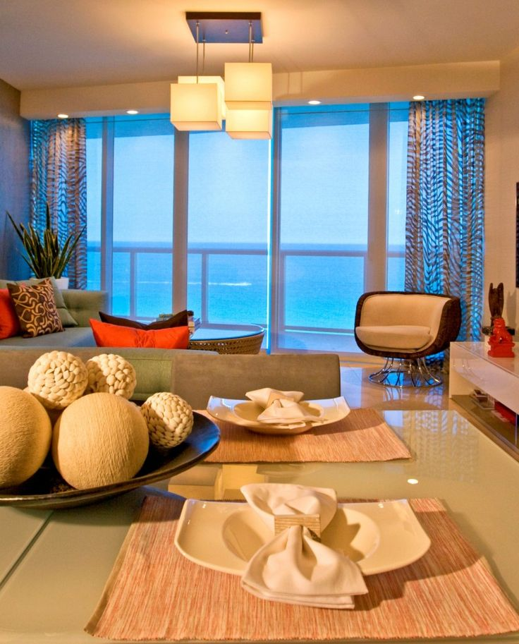 Interior Design Project in the Jade Beach Condominium- Sunny Isles, FL