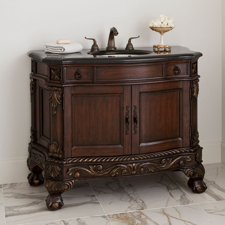 Ball Claw Sink Chest Dark Ambella Home Decor Bathroom Vanity