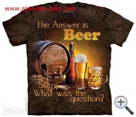 Válasz a sör felnőtt The Mountain póló.