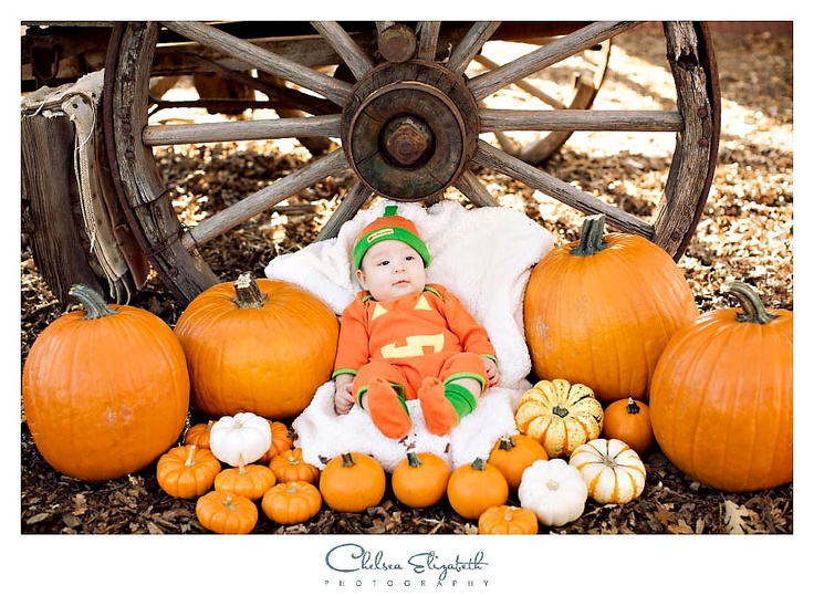 3 month old idea by Chelsea Elizabeth Photography halloween baby portrait
