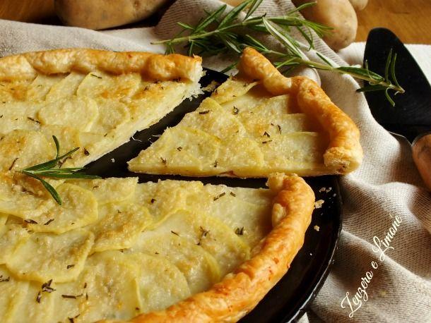 Sfoglia con patate e formaggio