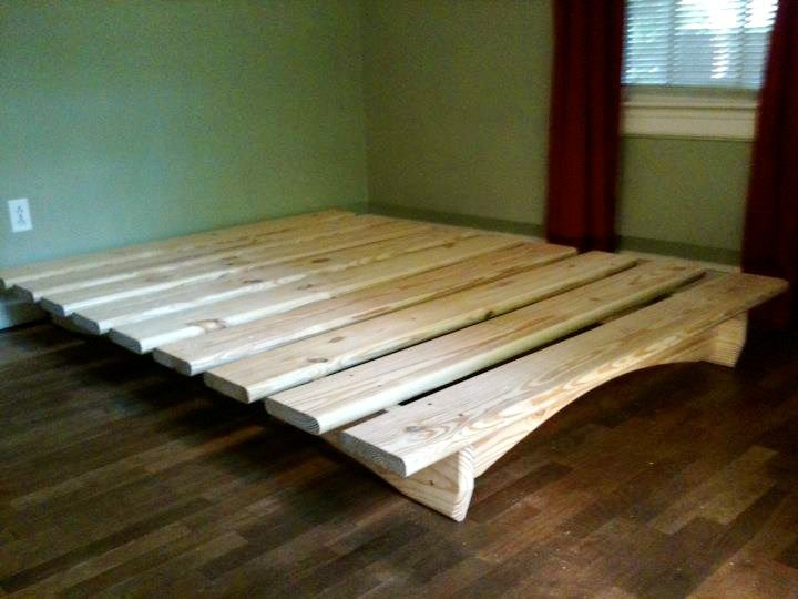 How to make a diy platform bed – lowe's, Use these easy diy platform bed plans to make a stylish bed frame with storage. the plans include dimensions for a twin, full, queen or king platform bed.. How to build a king-size bed frame | how-tos | diy, How to build a king-size bed frame