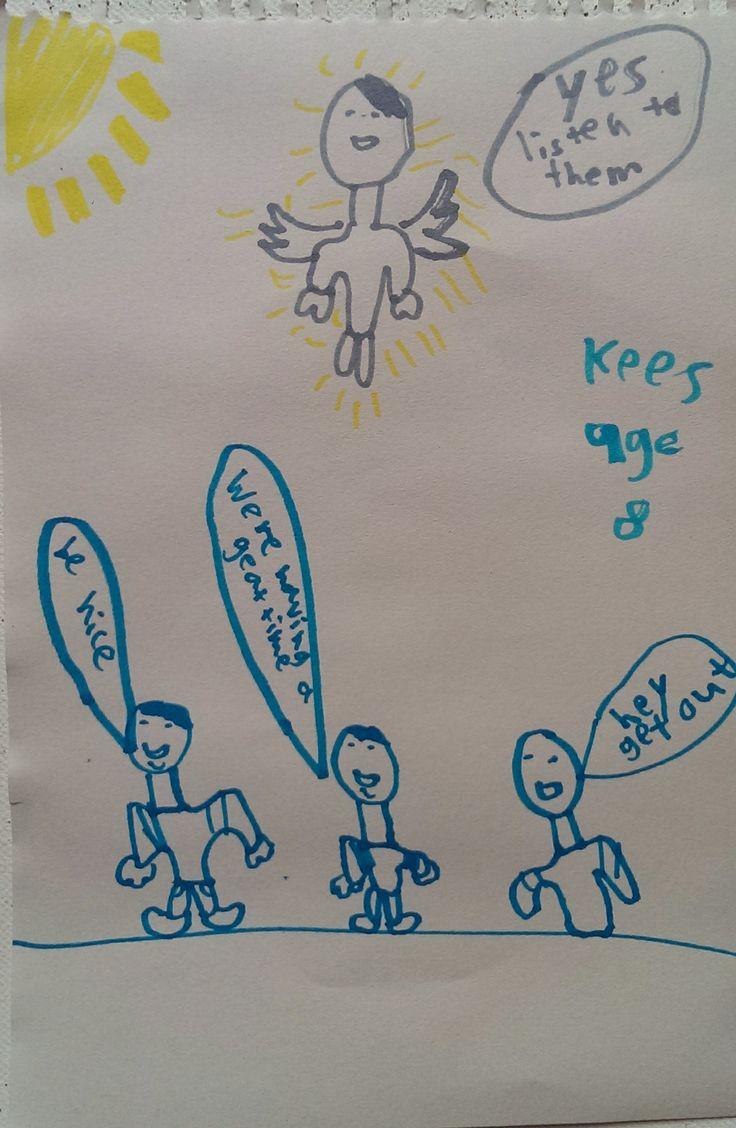 Christ Speaks to People ......Artist: Kees, Age 8