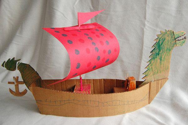 Manualidades con cartón para niños: un barco pirata