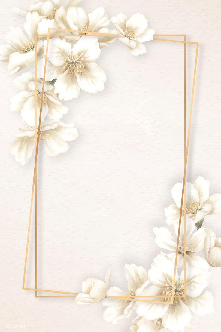 Download premium illustration of Rectangle cherry blossom frame vector