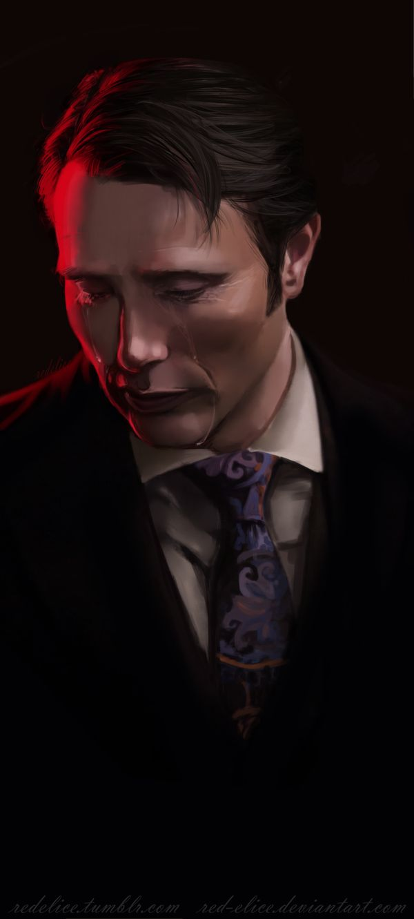 Hannibal Study03 by RED-Elice.deviantart.com on @deviantART Oh, I do believe hannibal's crying. DON'T CRY, HANNI. DON'T CRY.