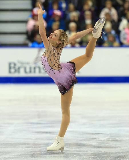 Gracie Gold, 2013 Skate Canada, Pink Figure Skating / Ice Skating dress inspiration for Sk8 Gr8 Designs. Designed by Action Fabrics.