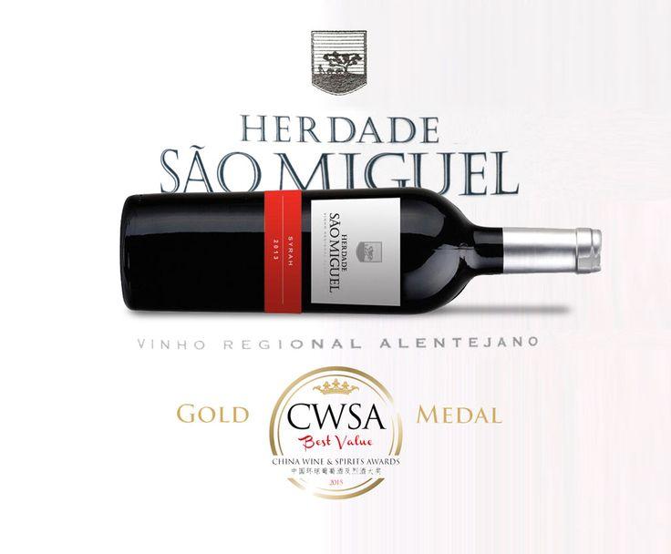 Sao Miguel #Syrah: gold digger at #CWSA2015 (#China Wine & Spirits Awards),