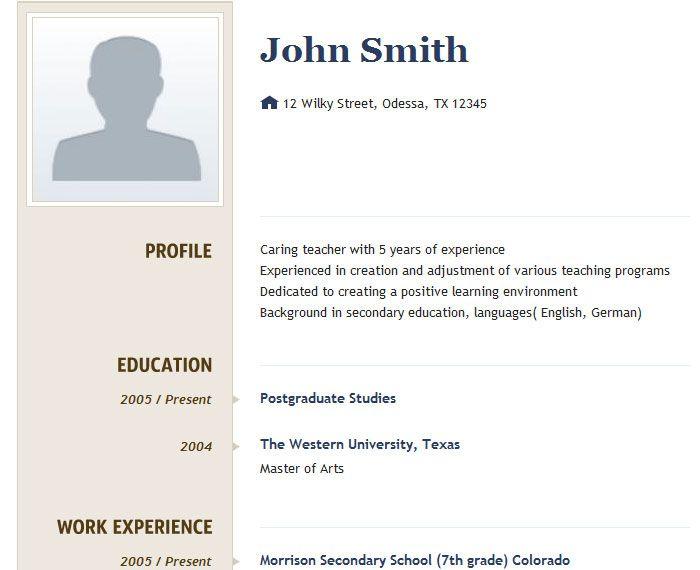 resume registration