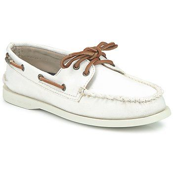 Boat shoes Sperry Top-Sider DESIRAE BLEACH White - Shoes Women ...