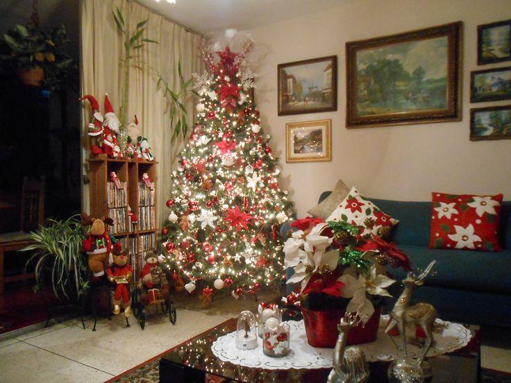 Mi arbol de navidad 2013 2014 y decoracion de mi sala - Decoracion navidena 2013 ...