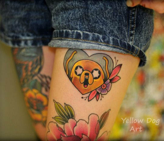 1337tattoos | Tumblr | Jake | Adventure Time                                                                                                                                                     Más