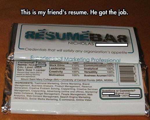 An innovative resume design.