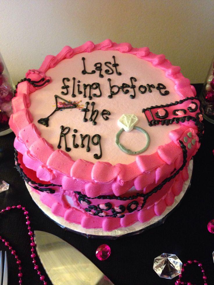 Bachelorette cake, last fling before the ring.