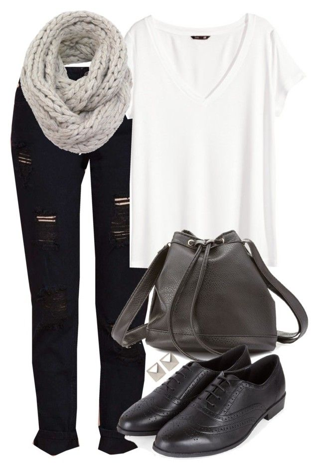 Isaac Inspired Outfit with Black Oxfords by veterization on Polyvore featuring polyvore, fashion, style, H&M, Charlotte Russe and Emilie Morris