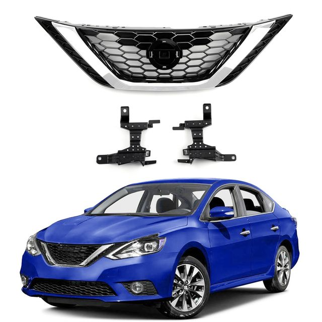 Front Bumper Upper Grille Assembly 62310 3yu0a For Nissan Sentra 2016 2018 In 2020 Nissan Sentra Nissan Sentra 2016 Nissan