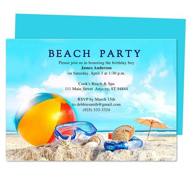 De 7 bsta Birthday Party Invitation Templatesbilderna p Pinterest