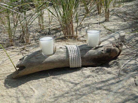 Votiv Kerzenständer Treibholz | Treibholz-Dekor | Treibholz-Tischdekoration | Treibholz Kerzenständer | Coastal Dekor | Strand-Dekor