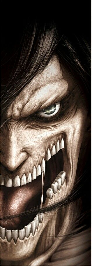 Attack on titan- Eren's Titan realistic art I loved this one- it's so detailed and carefully worked!!!